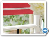 Bella Poppy detail with Kensington detail Blinds installed by Blind Inspiration Somerset ::<br> Quality blinds & awnings in Wellington, Taunton, Bridgwater, Yeovil and Dorchester, Somerset.